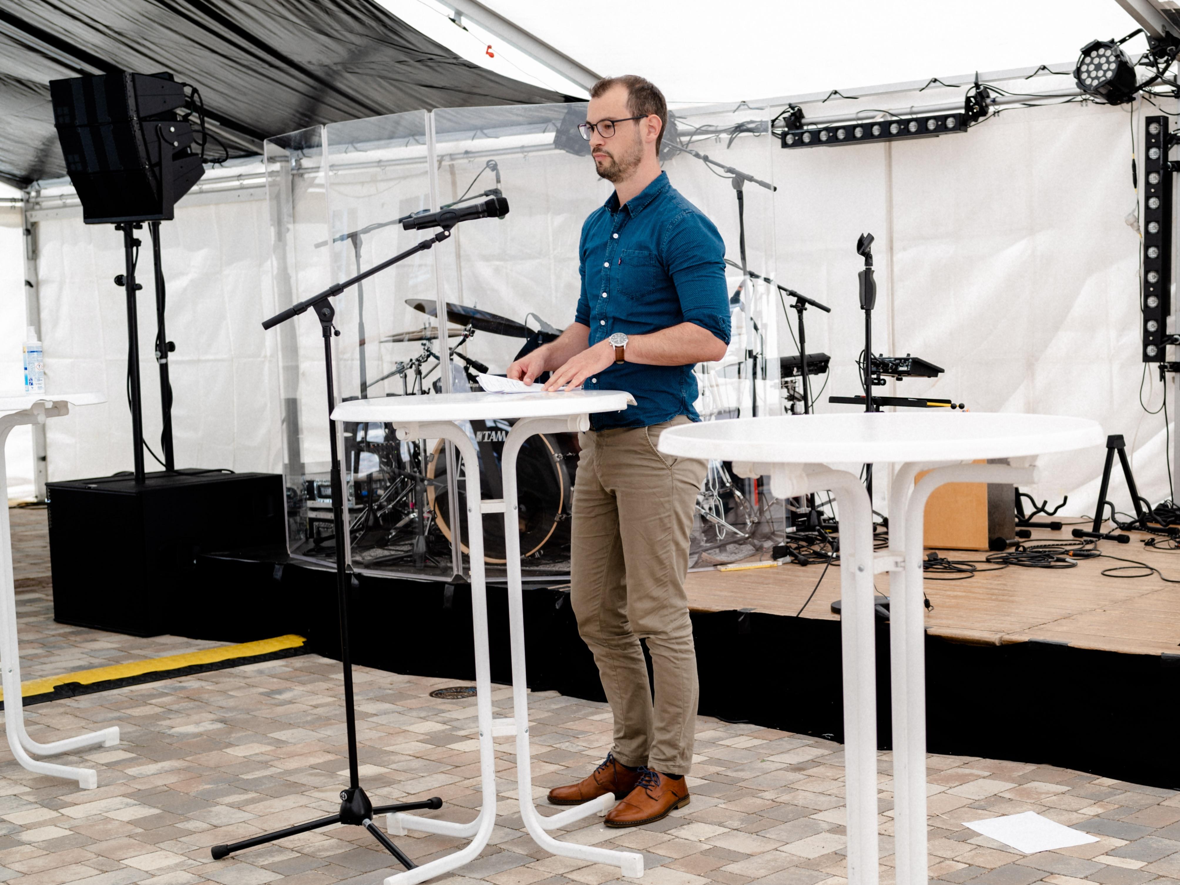 Schatzmeister Tobias Blatz